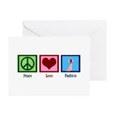 Peace Love Fashion Greeting Cards (Pk of 10)