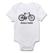 Single Speed Bicycle Infant Bodysuit