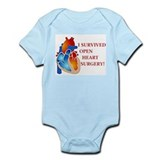I Survived Open Heart Surgery Infant Bodysuit