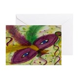 Mardi Gras Mask Greeting Cards (Pk of 10)