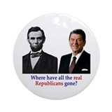 Real Republicans Ornament (Round)