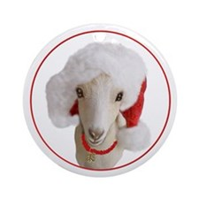 Goat Christmas LaMancha Doe Ornament