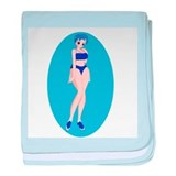 Ae Sook-Bathing Suit baby blanket