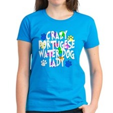 Crazy Portugese Water Dog Lady Tee
