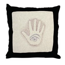 Earthtone Petro EyeHand Throw Pillow