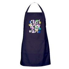Crazy Bichon Lady Apron (dark)