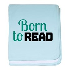 Born to Read baby blanket