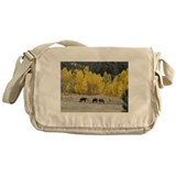 Grazing Horses Messenger Bag