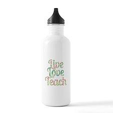 Live Love Teach Water Bottle