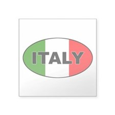 Italy (Italia) Flag Oval Sticker