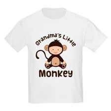 Grandma Grandchild Monkey T-Shirt