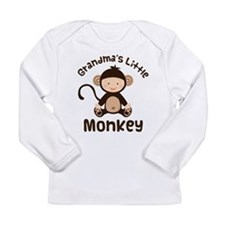 Grandma Grandchild Monkey Long Sleeve Infant T-Shi