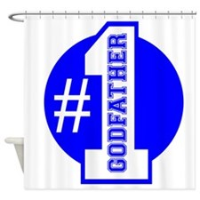 Number 1 Godfather (Blue) Shower Curtain
