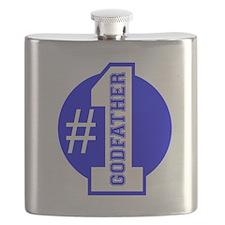 Number 1 Godfather (Blue) Flask