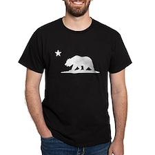 Cali Bear (White) on T-Shirt