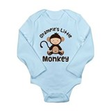 Grampie Grandchild Monkey Long Sleeve Infant Bodys