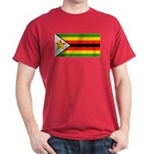 Zimbabwe Blank Flag Red T-Shirt