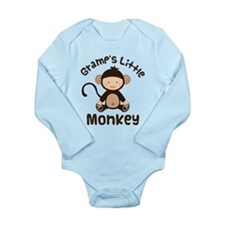Gramps Grandchild Monkey Long Sleeve Infant Bodysu