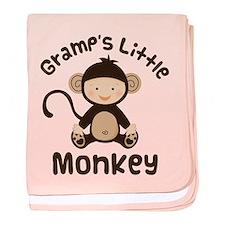 Gramps Grandchild Monkey baby blanket
