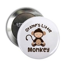 "Gramps Grandchild Monkey 2.25"" Button"