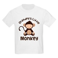 Grandpa Grandchild Monkey T-Shirt