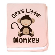 Opa Grandchild Monkey baby blanket