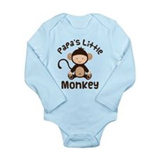 Papa Grandchild Monkey Onesie Romper Suit