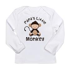 Papa Grandchild Monkey Long Sleeve Infant T-Shirt