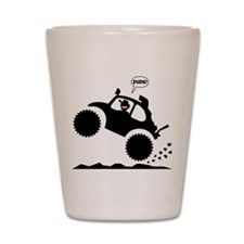 BAJA BUG WHEELIES black image Shot Glass