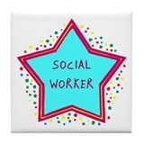 Social Worker Cookie Tile Coaster