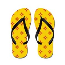Zia Sun Symbol Flip Flops
