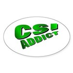 CSI Oval Sticker