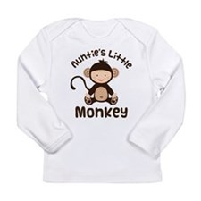 Auntie Monkey Long Sleeve Infant T-Shirt