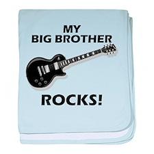 My Big Brother Rocks baby blanket