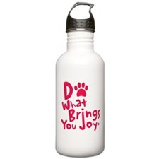 Do What Brings You Joy, Red Water Bottle
