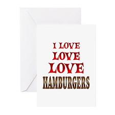 Love Love Hamburgers Greeting Cards (Pk of 20)