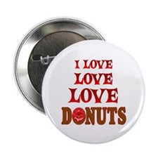 """Love Love Donuts 2.25"""" Button (100 pack)"""