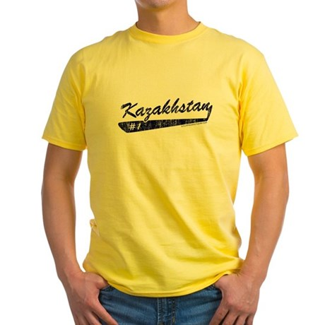 Team Kazakhstan Yellow T-Shirt