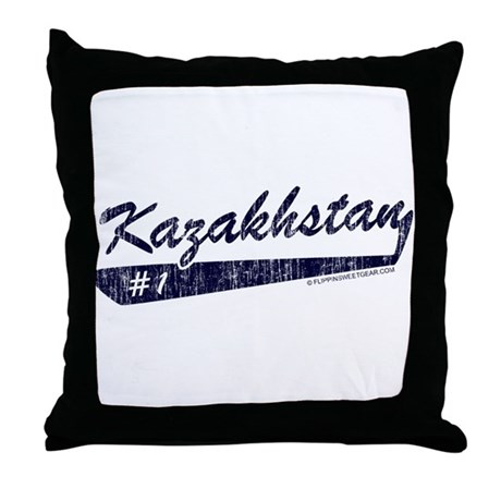 Team Kazakhstan Throw Pillow