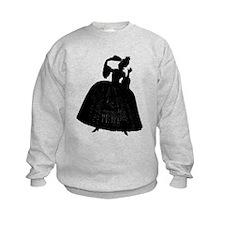 18th Century Lady Silhouette Sweatshirt