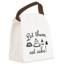 Sweet Let Them Eat Cake Canvas Lunch Bag