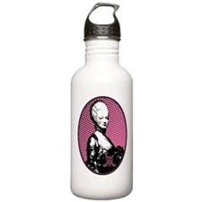 Oval Marie Antoinette Pop Art Water Bottle