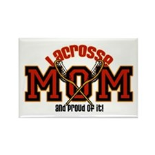 Lacrosse Mom Rectangle Magnet (10 pack)