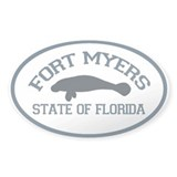 Fort Myers - Manatee Design. Decal
