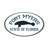 Fort Myers - Manatee Design. Wall Decal