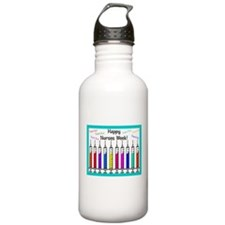 Happy Nurses week syringes Water Bottle