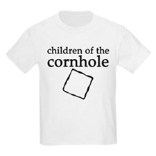 Cornhole in black & white Kids T-Shirt