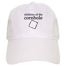 Cornhole in black & white Baseball Cap