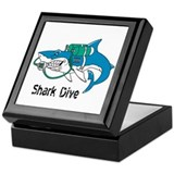 Shark Dive Keepsake Box