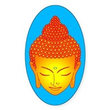golden buddha Oval Decal
